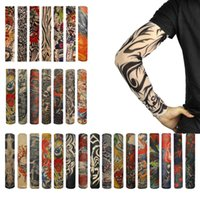 pattern tattoo designs - Fashion vogue Tattoo UV Protection Rock Arm Sleeves Fishing Cycling Outdoor Sports Cool Pattern Design