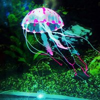 Wholesale Brand new Glowing Effect Aquarium Artificial Jellyfish Ornament Fish Tank Decoration