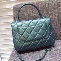 Wholesale 2016 new pearlescent Deerskin pattern Rainbow colorful Color intrigue hardware quilted Frame handbag women shoulder bag
