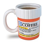 Wholesale 2015 New Fashion Mugs The Prescription Mug Big Mouth Toys Ceramic Coffee Mugs Fashion ceramic mugs Big Mouth Toys Mugs LJJD1451 ps