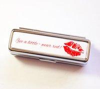 lipstick case - Lipstick Case Custom Personalized Silver Lipstick Case with Mirror