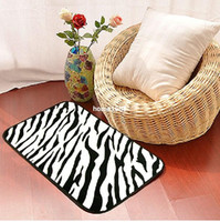 animal print area rug - CR04 x60cm Fashion Design Animal Print PATTERNED floor mat Bathroom Mat Area Rug door way Mat Zebra Leopard Black White Golden