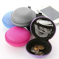 Wholesale EVA Storage Bag Box Zipper Pouch Case Coin Purse Pocket for Earphone Headphone USB Cable Charger Adapter Multicolor