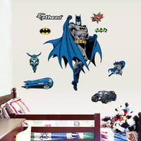 batman wallpaper - Batman Wall Posters Sticker Hero Stickers D Movie Posters Batman Wallpaper Home Decor cm in stock