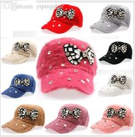baseballs freights - free freight Bow drill hat rabbit baseball cap W031 cool hat