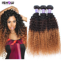 Cheap New Ombre Blonde Brazilian Hair 7ABrazilian Kinky Curly Virgin Hair Three Tone Ombre Brazilian Hair Kinky curly weave human hair