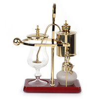 Metal belgium coffee maker - Royal Belgium coffee maker Golden Color balancing coffee machine expresso giftbox Shell packing