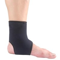 Wholesale Black Elastic Sports Basketball Ankle Foot Elastic Protector Brace Support Wrap MD715