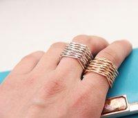 Señalado de capas múltiples anillos de estrellas más reciente moda sucinta de oro hermoso y un anillo de plata 10pcs / lot