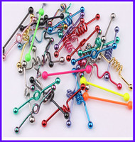 Wholesale Factory price piercing jewelry mix style mix color industrial barbell tongue ring body piecing jewelry