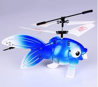 Wholesale The new remote control electric induction levitation bubble fish drone helicopter toys for children