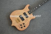 alembic guitar - Custom Quilted Maple Ply Neck Thru Ebony Fretboard Active Preamp Pickup Alembic Strings Electric Bass Guitar