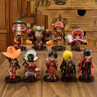 Wholesale 9pcs set Anime One Piece Action Figures Cute One Piece Film Z Mini Figure Toys Dolls cm Best Gift For Kids