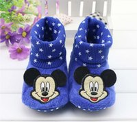 adorable shoes - 2016 new style spring and autumn baby socks soft bottom slip Mickey Mouse shoes adorable baby toddler shoes shoes