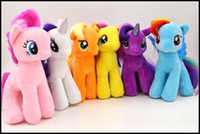 Wholesale 2015 Kids My little pony Plush dolls boys girls inch cm Rainbow pony toys soft stuffed animal doll kids gift J062405