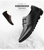 Cheap Recreational shoe male doug leather men's shoes with leather shoes British wind and low pile shoe