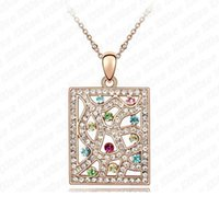 american window factory - Factory South window by people Korean factory direct crystal pendant necklace pendant jewelry upscale European and American fash