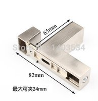 Wholesale 2pcs F shape Glossy shiny Glass Clamp bracket Can clamp to mm material zinc alloy