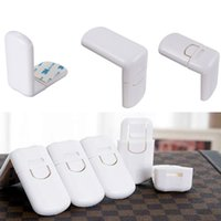 Wholesale 10 White ABS Baby Kids Infant Safety Cabinet Cupboard Door Fridge Wardrobe Drawer Lock For Child Care Security order lt no track