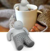 Wholesale Teapot cute Mr Tea Infuser Tea Strainer Coffee Tea Sets silicone fred mr tea