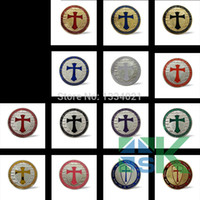 Wholesale Deal Mix14pcs metal craft Europe knights templar cross set of silver gold plated coins