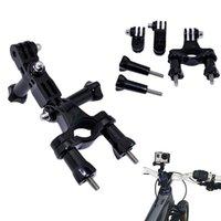 achat en gros de guidon seatpost-Sports Action Cam Accessoires Bike Moto Guidon Tige de selle Pole Mount 3 voies Pivot réglable pour l'action Cam xiaomi yi