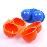 Wholesale Camping Food Containers - Portable Egg Storage Box Container Hiking Outdoor Camping Carrier For 2 Egg Case #55012