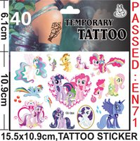 Wholesale My Little Pony Tattoos Stickers My Little Pony Temporary Tattoos My Little Pony Body Tattoos Kids Cartoon Tattoos size cmx10 cm H0107