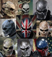 Wholesale TACTICAL GEAR M06 AIRSOFT PAINTBALL COSPLAY FULL FACE PROTECTION SKULL MASK MULTI COLORS