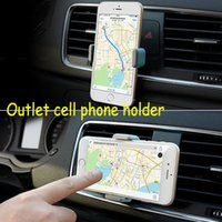 Wholesale Universal car phone holder multifunction portable outlet automobile Apple mobile navigation Rotate bracket For iphone HTC Samsung