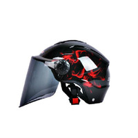 Wholesale 2015 UV face electric motorcycle helmet helmet safety hat half of men and women OU