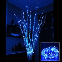 Wholesale 2m Led Strings Copper Wire leds Submersible Lights Coin Battery Powered Fairy Strings for Wedding Party Xmas Halloween Fairy Lighting