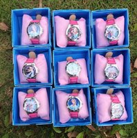 acrylic packaging watch - frozen watch kids fashion quartz cartoon Elissa Jelly Candy led Cute Lovely Girl woman lady with retail package models