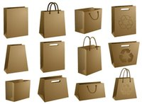 Wholesale Recyclable kraft brown paper bag size customized environment friendly logo can be printed as advertising gifts giveaways
