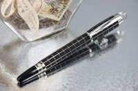 balls ballpoint metal - PURE PEARL STARWALKER Series High Quality Best Design Frosted Black and Silver Checkered Roller Ball Pen