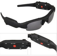 Wholesale Fast shipping new mini DV DVR SPY Sunglasses Camera Recorder GB TF card High quality
