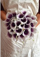 Wholesale Decorative flower Picasso artificial real touch flowers for mini calla lily flower wedding decoration MTL005