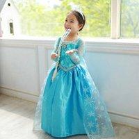 cotton dress materials - Best price Elsa anna princess dresses Elsa Anna dresses Long sleeve baby girl dress material cotton Size