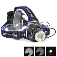 Wholesale 10 Lm XM L T6 Led Headlight Headlamp AA Head Lamp Flashlight Adjustable focus zoom Head Light Torch Mode