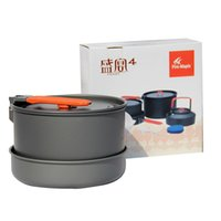 Wholesale Fire Maple Portable Camping Pot Pan Kettle Picnic Outdoor Cooking Cookware Set Aluminum for People order lt no track