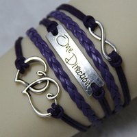 Wholesale Fashion Popular England Band One Direction Beads Straps Hearts Metal Girls Trendy Strands