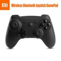 Wholesale 100 Genuine Xiaomi Mi Wireless Bluetooth Game Handle Controller Remote Joystick GamePad For Android Smart TV PC G sensor
