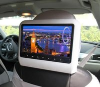 Wholesale universal inch car headrest DVD player with USB SD Bracket HDMI bits Game IR FM transmitter HD screen built in speaker