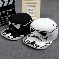 Wholesale 2016 New arrival Fashion Brand Star Wars Snapback Caps Cool Strapback Letter vader cap black stormtrooper hats white