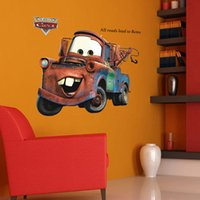 baby boy nursery decoration - Cartoon Cars Mater Giant Wall Stickers for Boys Kids Baby Rooms Movie Decorative Wall Decals Comic Home Decoration Wall Art