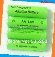 aa battery 3000mah AA 4pcs lot aa rechargeable battery 3000mah 1.5V new Alkaline Rechargeable batteries for led flashlight bateria 12v(8pcs )