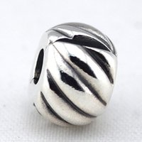animal etchings - Feathered Silver Clip with Etched Feather Details Sterling Silver Bead Fit Pandora Bracelet Fashion Jewelry DIY Charm Brand