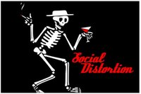 Cheap Christmas Gift Decoration For Bedding Living Room Posters Hurt Band Social Distontion Skull Big 50x75cm Wall Sticker