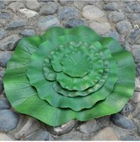 aquatic plants pond - 1pcs PU decorative lotus aquatic plant artificial lotus flower leaf for pond decoration