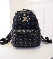 backpack cool bags - 2016 hot SMO sale cool punk gold spiky backpack stud bag school bag hobo men women unisex bag hot